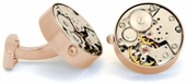 Working Gold Watch Movement Steampunk Cufflinks