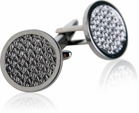 Woven Cufflinks in Gun Metal
