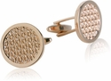 Woven Cufflinks in Rose Gold
