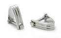Wrap Around Cufflinks - Rhodium Silver