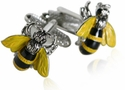 Yellow Jacket Bee Cufflinks