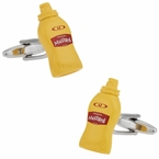 Yellow Mustard Bottle Cufflinks