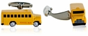 Yellow School Bus Cufflinks
