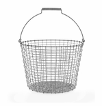 Bucket 6.5 Gallons (24 Liters), Galvanized Steel