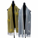 Choucho Brushed Merino and Lambs Wool Scarf with Fringe - 2 Colors