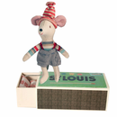Christmas Mouse Little Brother with Bed Box