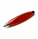 Crayon Pencil or Ballpoint Pen - Red
