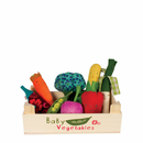 Danish Veggie 8 Piece Rattle Set with Crate