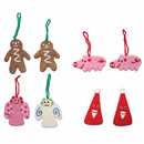 Felted Wool Christmas Ornaments - 8 Piece Set