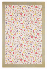 "Floral Tablecloth - 57"" W x 83"" L"