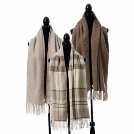 Gobi Brushed Mongolian Wool Scarf with Fringe - 3 Colors - Click to enlarge