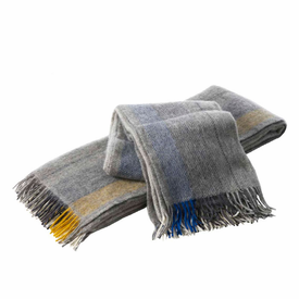 Gute Brushed Gotland Wool Blanket with Fringe - 2 Colors - Click to enlarge
