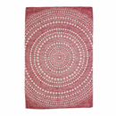 "Kastehelmi Tea Towel - 17"" X 25"" - Red"