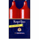 "Liljeholmens Kupeljus 4.5"" Candles Red or White - Box of 2 - Sweden"