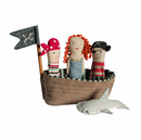 Maileg Pirate Ship & Friends Rattle Set