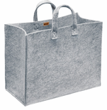 "Meno Home Bag L -15.75"" X 19.7"" X 9.8"" Gray Felt"