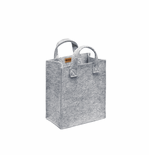 "Meno Home Bag S - 13.75"" X 9.8"" X 5.9"" Gray Felt"