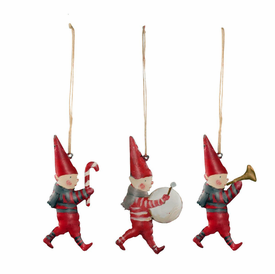 Metal Pixie Ornaments, Set of 3 in a Matchbox - Click to enlarge