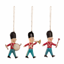 Metal Soldier Ornaments, Set of 3 in a Matchbox