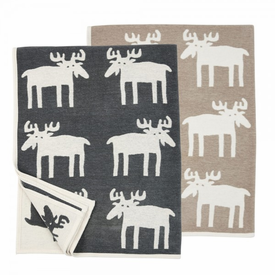 Moose Organic Cotton Blanket - Click to enlarge