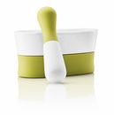 Mortar & Pestle, White/Green