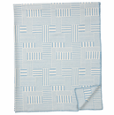 Muovo Brushed Cotton Blanket, Blue - 2 Left