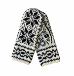 Original Selbu Norwegian Hand Knitted Men's Mittens - White/Black