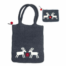 Reindeer Felted Wool Bag and Purse Set (2 Left)