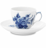 Royal Copenhagen Blue Flower Curved Coffee Cup & Saucer - 6 oz
