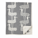 Shore Birds Cotton Chenille Blanket, Grey