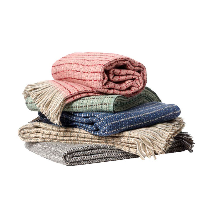 Stitch ECO Lambs Wool Blanket with Fringe - 5 Colors