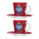 Taika Espresso cup & saucer Red 2 Pc. Set