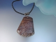 Agate Pendant  with  Leather Necklace