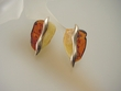 Modern Butterscotch & Honey Baltic Amber Sterling Silver Earrings