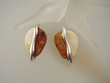 Contemporary  Butterscotch & Honey Baltic Amber Sterling Silver Earrings