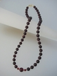 Cherry Baltic  Amber Beaded  Necklace & Vermeil