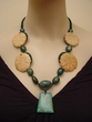 Natural Ruby in Zoisite Jewelry. Red Malachite Flower Necklace.