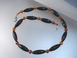 Baltic Amber & Black Onyx Beaded Necklace