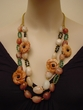 Hand Made Natural Gemstone Jewelry.Crocheted Necklace.