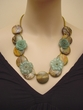 Hand Made Necklace.Crocheted Gemstone Jewelry.