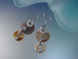 Dangle Natural Mother of Pearl Earrings set in Sterling Silver