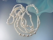 Long  Natural White Color Freshwater Pearl  Necklace  72 ""