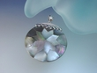 Large  Paua  Shell  Mosaic  Sterling Silver  Pendant  Necklace