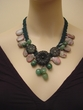 Natural Gemstone Jewelry.Rhodonite / Amazonite / Adventurine Necklace.