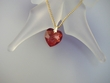 Red Magma Swarovski Heart Pendant Necklace