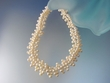 Sterling  Silver  Weaved   Freshwather  Pearl  Necklace