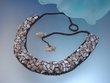 Crochet Mother of Pearl Choker Necklace