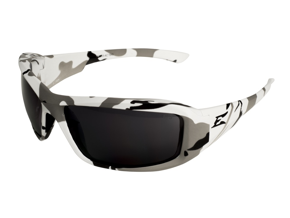 edge eywear xb116 ac brazeau arctic camo frame smoke lens safety glasses