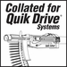 QuikDrive HG112S #9 x 1-1/2 Hex Metal Roofing/Siding Screws* (1000)