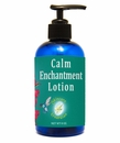 Calm Enchantment Lotion 8 oz., blended with Rose Otto, and Sandalwood. A heartfelt, lovely synergy embraces your emotions.